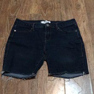 Cut-Off Dark Jean Shorts